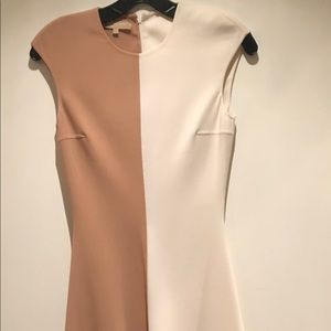Michael Kor's color blocked midi dress.